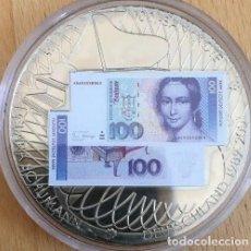 Medallas temáticas: BONITA MONEDA PLATA CON LA IMAGEN DE UN BILLETE DE 100 DM CON CLARA SCHUMANN DE ALEMANIA. Lote 137586586