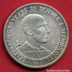 Medallas temáticas: MEDALLA PLATA, TAMAÑO ONZA , 50 ANIVERSARIO 1993, CIENCIA Y TECNOLOGIA , ORIGINAL , B22. Lote 138164478