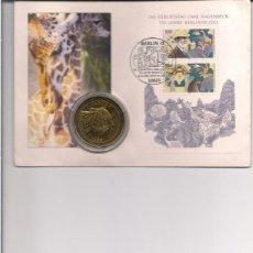 Medallas temáticas: SALVAR A LOS ANIMALES, SOBRE DE ALEMANIA CON MEDALLA DE LA CABEZA DE UN JAGUAR. Lote 138600682
