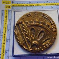 Medallas temáticas: MEDALLA DE BRONCE CONMEMORATIVA - INSTITUCION SINDICAL FRANCISCO FRANCO - XV PROMOCION MALAGA. 140GR. Lote 138725946