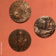 Medallas temáticas: TRES MEDALLAS DE JULIO LÓPEZ HERNÁNDEZ. Lote 138726578