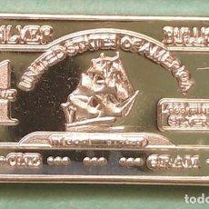 Medallas temáticas: LINGOTE - MINI 1 GRAMO PURA PLATA FINA DE 999 - BARCO BOUNTY - VISTA MIS OTRO LOTES. Lote 139119310