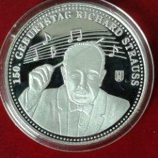 Medallas temáticas: BONITA MONEDA PLATA CONMEMORATIVA AL 150 CUMPLEAÑOS DEL COMPOSITOR ALEMAN RICHARD STRAUSS. Lote 139232614