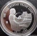 Medallas temáticas: BONITA MONEDA PLATA CONMEMORATIVA AL 200 CUMPLEAÑOS DEL COMPOSITOR AUSTRO HUNGARO FRANZ LISZT. Lote 139235770
