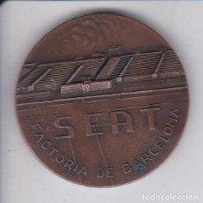 Medallas temáticas: MEDALLA DE BRONCE DE SEAT - FACTORIA DE BARCELONA - INAGURACION INSTALACIONES DEPORTIVAS JUNIO 1960. Lote 139549946