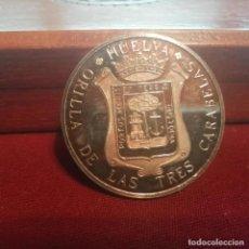 Medallas temáticas: HUELVA. MEDALLA DE PLATA PURA 25 GRAMOS. CONTRASTADA 999 MILÉSIMAS. Lote 140402542