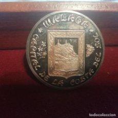 Medallas temáticas: MÁLAGA. MEDALLA DE PLATA PURA 25 GRAMOS. CONTRASTADA 999 MILÉSIMAS. Lote 140402710