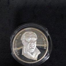 Medallas temáticas: FRANCISCO GOYA 2 ONZAS DE PLATA FUSILAMIENTOS 3 DE MAYO. Lote 140429550