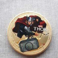Medallas temáticas: MONEDA DE THOR DE MARVEL. Lote 140564402