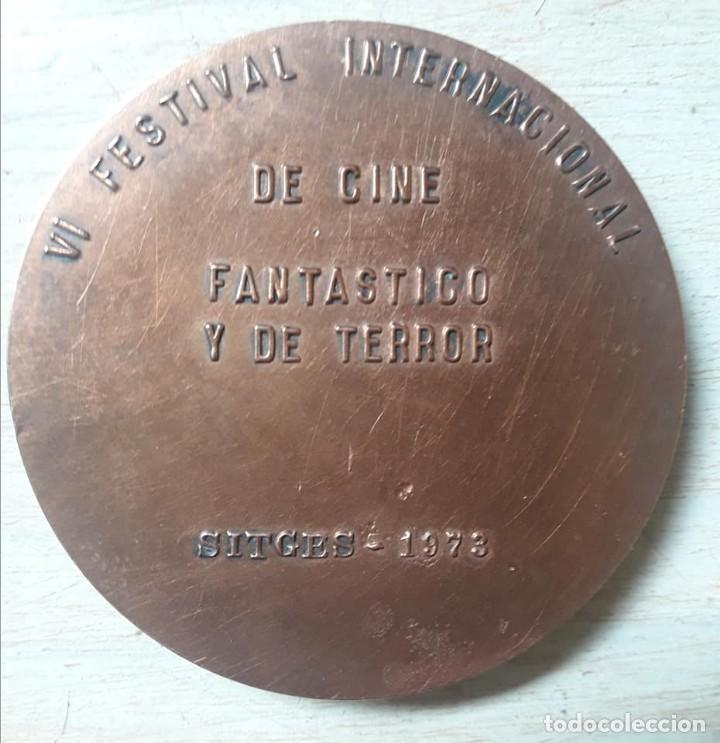 Medallas temáticas: MEDALLA VI FESTIVAL CINE FANTASTICO Y DE TERROR-SITGES-5 CMS-1973-DIFICIL - Foto 2 - 140570162