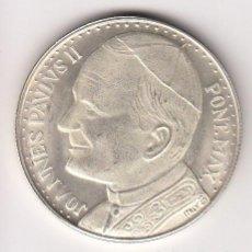 Medallas temáticas: MEDALLA RELIGIOSA EN PLATA 16,20GR-35MM. JUAN PABLO II PONT.MAX (IMPORTANTE VISITAR REVERSO). S/C. Lote 140571926