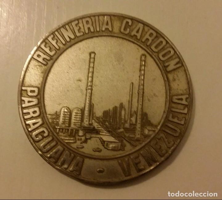 Medallas temáticas: MEDALLA DE LA REFINERÍA DE PETRÓLEO DE CARDÓN EN PARAGUANÁ. VENEZUELA. MARAVEN 1976 - Foto 3 - 140605138