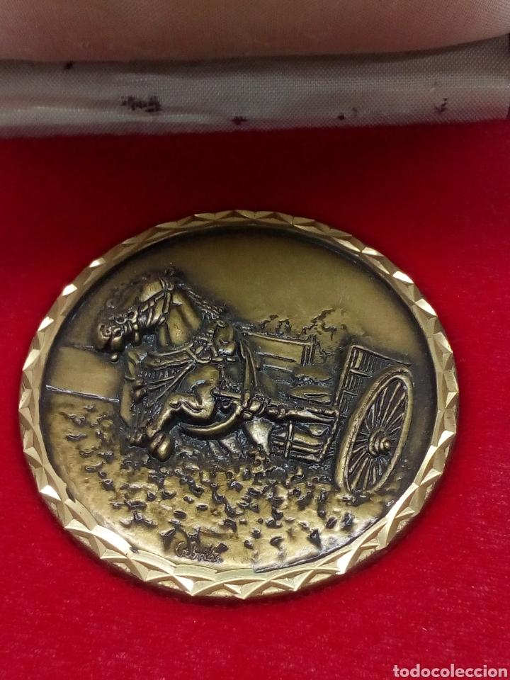 Medallas temáticas: Medalla de cebrian bronce caballo con carruaje en estuche - Foto 2 - 141699706