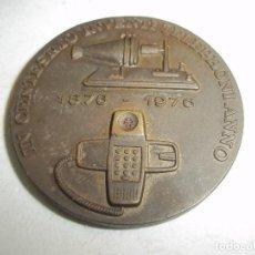 Medallas temáticas: COMPAÑIA TELEFONICA NACIONAL ESPAÑA. MEDALLA INVENTO TELEFONO.CENTENARIO.1976. . Lote 142088606