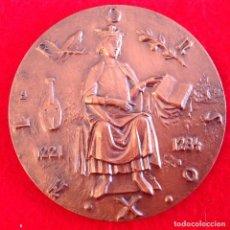 Medallas temáticas: MEDALLA DE BRONCE DE 8 CM. ALFONSO X, CANTIGAS DE SANTA MARÍA, DEL ESCULTOR GRABADOR LÓPEZ HERNÁNDEZ. Lote 189137120