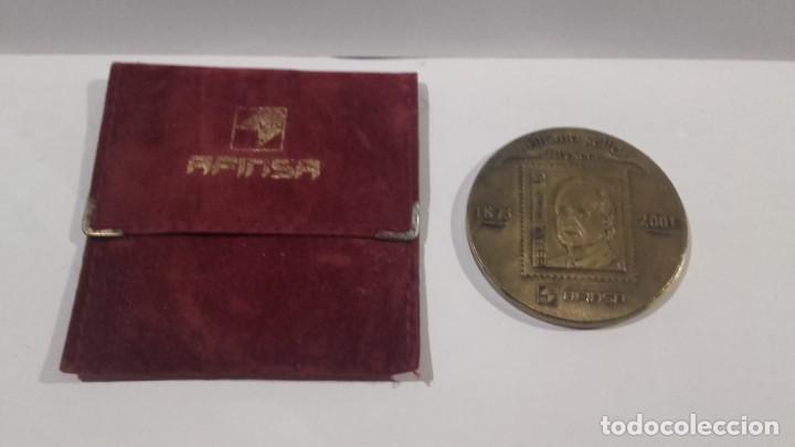 MEDALLA - MEDALLÓN AFINSA 2001 CON SU FUNDA ORIGINAL - DIÁMETRO 6 CM (Numismática - Medallería - Temática)