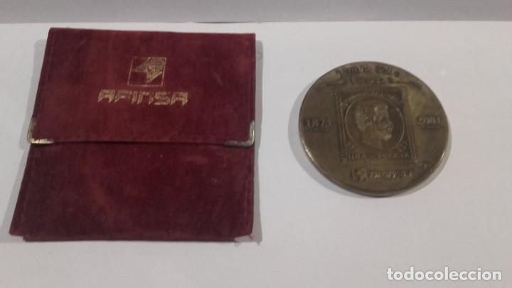 Medallas temáticas: Medalla - Medallón Afinsa 2001 con su funda original - Diámetro 6 cm - Foto 2 - 142451198