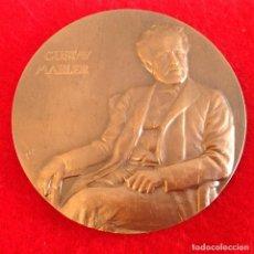 Medallas temáticas: MEDALLA DE BRONCE A GUSTAV MAHLER DE 80 MM DE DIÁMETRO, FIRMADA POR EL ESCULTOR GRABADOR CE, NUEVA.. Lote 161484732