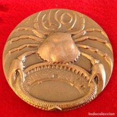 Medallas temáticas: MEDALLA DE BRONCE EL SOL DE 75 MM DE DIÁMETRO, FIRMADA POR EL ESCULTOR GRABADOR MANOLO PRIETO, NUEVA. Lote 206772330