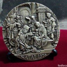 Medallas temáticas: MEDALLA NATAL 78 POR VASCO BERARDO, EM BRONZE, CUNHADA DOS 2 LADOS EM ALTO RELEVO.. Lote 142760614