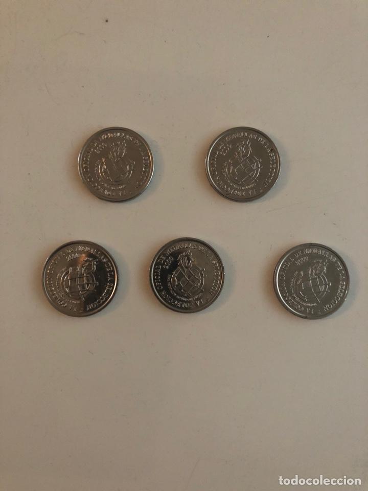 5 MONEDAS CONMEMORATIVAS SELECCIÓN ESPAÑOLA (Numismática - Medallería - Temática)
