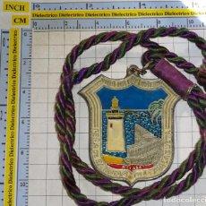 Medallas temáticas: MEDALLA MEDALLÓN PEÑA BAÑISTAS DE LA MALAGUETA. FAROLA. MÁLAGA. 80GR. Lote 143605990