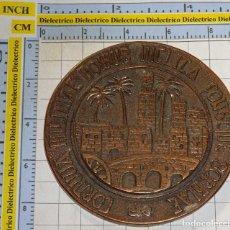 Medallas temáticas: MEDALLA MEDALLÓN DE BRONCE. MEDICINA. XX REUNIÓN ASOCIACIÓN PEDIATRÍA. CÓRDOBA 1987. 180GR. Lote 143606106