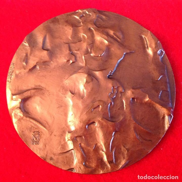 Medallas temáticas: Medalla de bronce, Opiniones de un modelo, 80 mm. de diámetro, FNMT 1985 - Foto 2 - 161589565