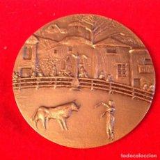 Medallas temáticas: MEDALLA DE BRONCE, TOROS EN NAVALCARNERO, 76 MM. DE DIÁMETRO, FNMT, NUEVA.. Lote 143613482
