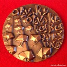 Medallas temáticas: MEDALLA DE BRONCE, EL OLIVO, 85 MM. DE DIÁMETRO, FNMT, 1986, NUEVA.. Lote 143614078