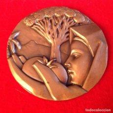 Medallas temáticas: MEDALLA DE BRONCE, ISLAS CANARIAS, 75 MM. DE DIÁMETRO, FNMT, 1986, NUEVA.. Lote 143614246