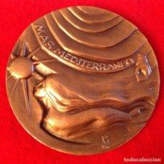 Medallas temáticas: MEDALLA DE BRONCE, MAR MEDITERRÁNEO, COSTA DORADA, 75 MM. DE DIÁMETRO, FNMT, 1986, NUEVA.. Lote 143614618