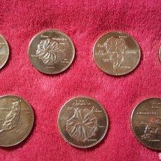 Medallas temáticas: COLECCIÓN ISLAS CANARIAS DE PLATA. COMPLETA. 1977. Lote 145135069