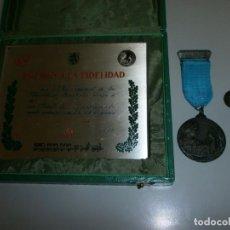 Medallas temáticas: MEDALLA RENFE PREMIO A LA FIDELIDAD BRONCE PLACA MEDALLA Y MINIATURA EN SU CAJA ORIGINAL AÑO 1968. Lote 145260742