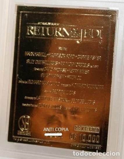 Medallas temáticas: LINGOTE CARTA ORO 23KT OFICIAL LUCASFILM STAR WARS EDICION LIMITADA Y NUMERADA EL RETORNO DEL JEDI - Foto 2 - 145306700