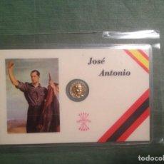Medalhas temáticas: JOSÉ ANTONIO PRIMO DE RIVERA. CARNET DE FALANGE. MEDALLITA DORADA. Lote 145847778