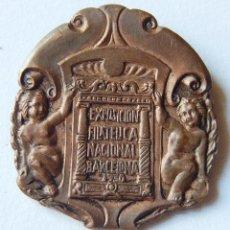 Medallas temáticas: MEDALLA EXPOSICIÓN FILATELICA NACIONAL BARCELONA 1930. COBRE. PRECIOSA.. Lote 145961738