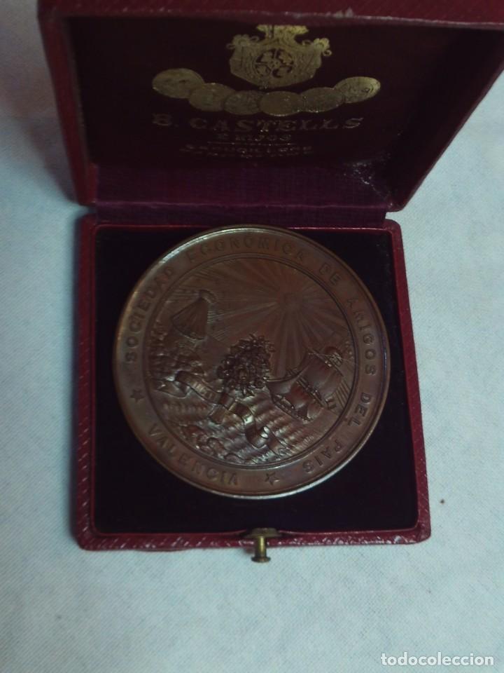 MEDALLA SOCIEDAD ECONOMICA DE AMIGOS DEL PAIS VALENCIA,SEGUNDA DE PINTURA DE ARTISTAS VALENCIANOS (Numismática - Medallería - Temática)