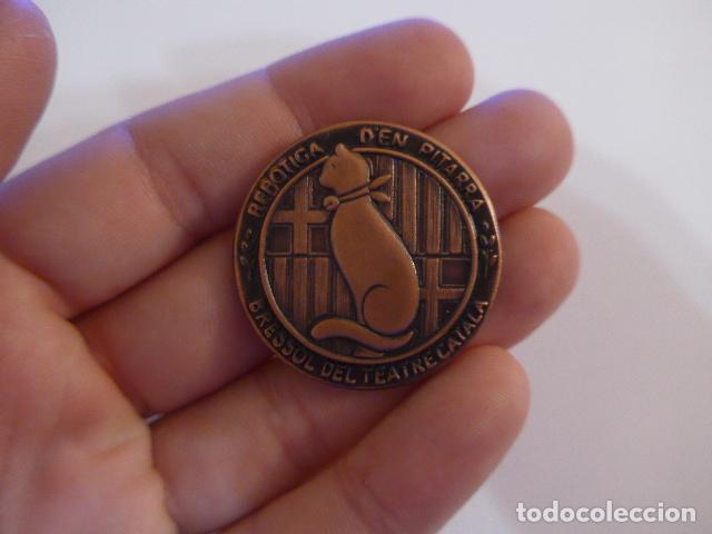 Medallas temáticas: Antigua medalla catalana de centenari Pitarra, bressol del teatre català. Teatro. - Foto 2 - 146576522