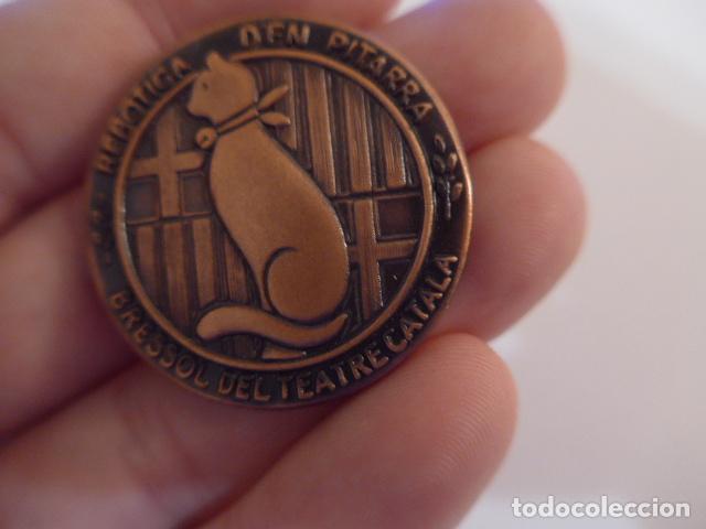 Medallas temáticas: Antigua medalla catalana de centenari Pitarra, bressol del teatre català. Teatro. - Foto 3 - 146576522