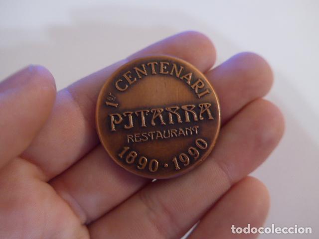 Medallas temáticas: Antigua medalla catalana de centenari Pitarra, bressol del teatre català. Teatro. - Foto 4 - 146576522