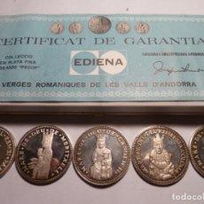 Medallas temáticas: 5 MEDALLAS DE ANDORRA VIRGENES ROMANAS DE ANDORRA. Lote 146664710