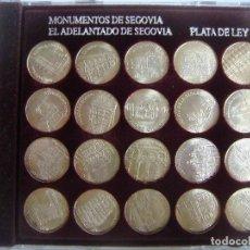 Medallas temáticas: COLECCION DE 20 MEDALLAS DE MONUMENTOS SEGOVIANOS EN PLATA DE LEY (#). Lote 214331798