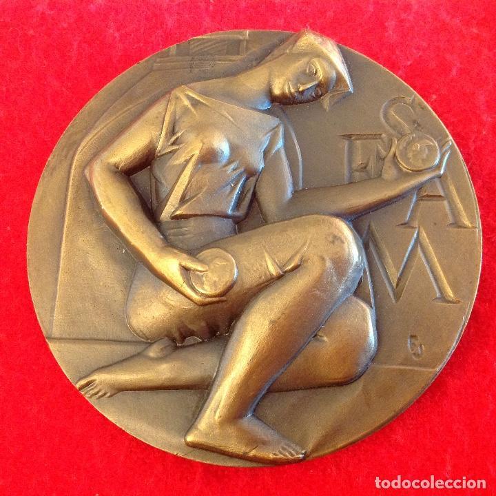 MEDALLA DE 8 CM. DE LA FNMT, SEAM, SOCIEDAD ESPAÑOLA DE AMIGOS DE LA MEDALLA, FIRMADA FERNANDO JUAN (Numismática - Medallería - Temática)