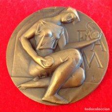 Medallas temáticas: MEDALLA DE 8 CM. DE LA FNMT, SEAM, SOCIEDAD ESPAÑOLA DE AMIGOS DE LA MEDALLA, FIRMADA FERNANDO JUAN. Lote 147190490