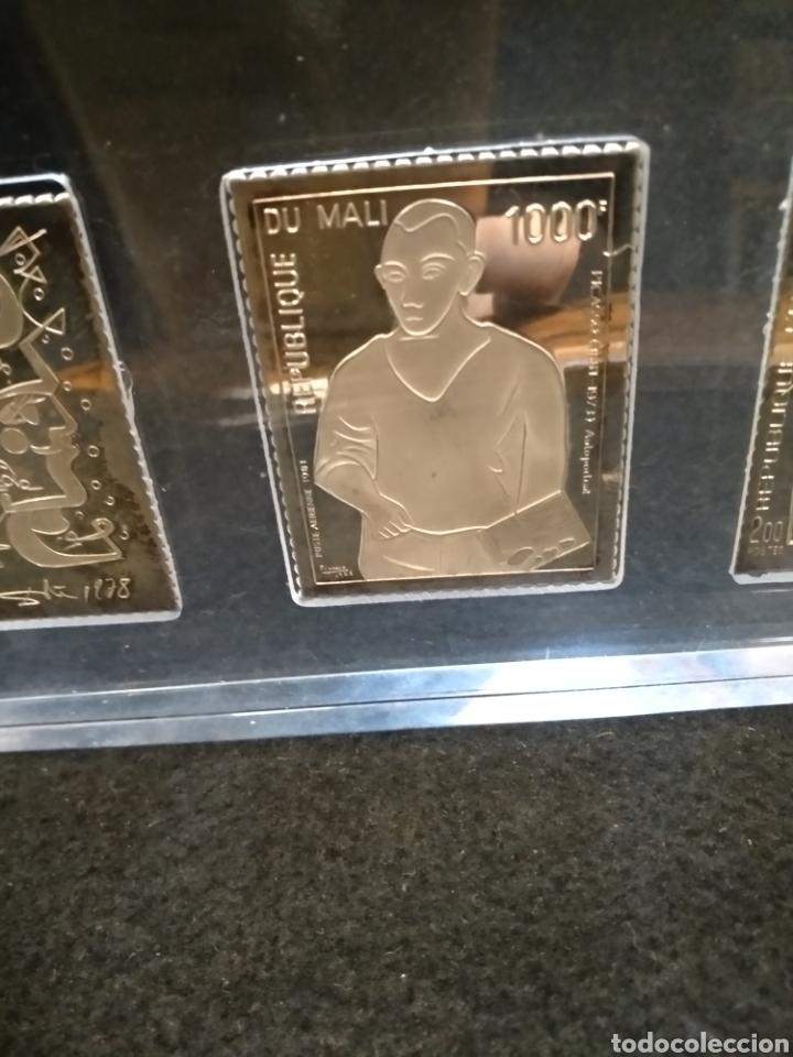 Medallas temáticas: Medallas / placas / sellos, Dalí, Miró y picaso en plata fina 999. Sello joya - Foto 3 - 147220713