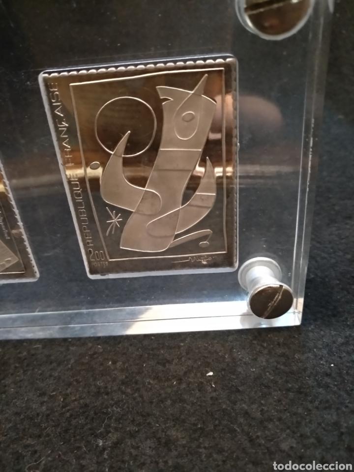 Medallas temáticas: Medallas / placas / sellos, Dalí, Miró y picaso en plata fina 999. Sello joya - Foto 4 - 147220713