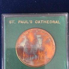 Medallas temáticas: MEDALLA ST. PAUL´S CATHEDRAL / SOLID BRONZE.. Lote 147681258