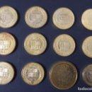 Medallas temáticas: LOTE 12 MONEDAS REPRODRUCCION, BAÑADAS ORO - 10 DE 4 EXCELENTES + 2 DE 8 ESCUDOS ..A1155. Lote 147748726
