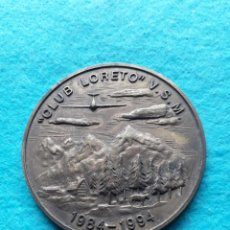 Medallas temáticas: MEDALLA DE BRONCE CLUB LORETO. V. S. M. 1984 - 1994. AVIACIÓN. Lote 148024854